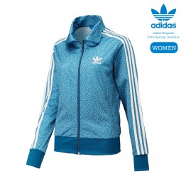 ADIDAS FIREBIRD TRACK TOP DAMEN TRAININGSJACKE BLAU