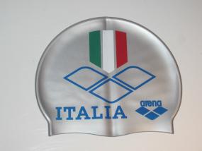 ARENA BADEKAPPE PRINT CAP ITALIEN ITALIA SCHWIMMÜTZE SILIKON