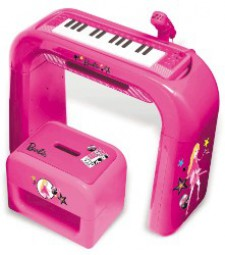 MATTEL BARBIE KEYBOARD MIT GESTELL UND HOCKER